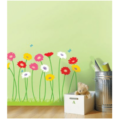 Growing Flowers Wall Stickers