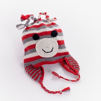 Cotton monkey hat red