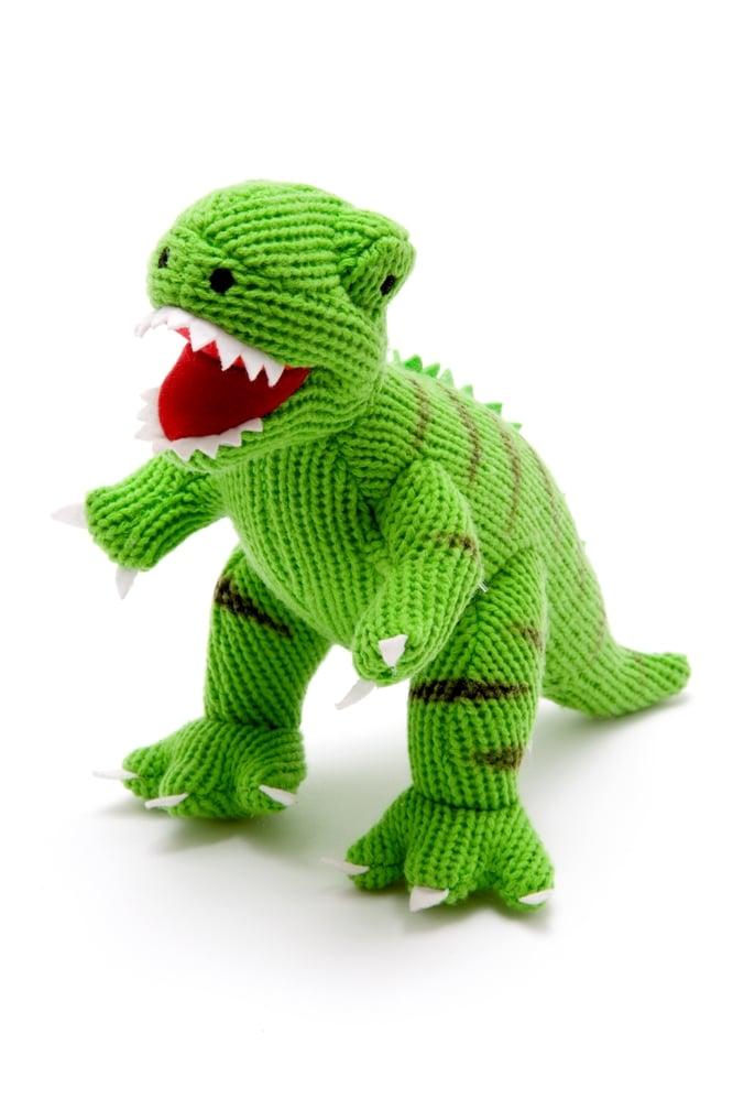 T Rex Dinosaur Toy : Knitted t rex dinosaur toy green the little lavender tree