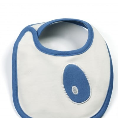 reversible bib blue