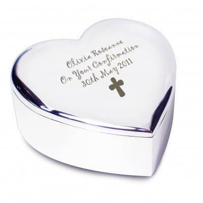 Personalised Cross Heart Trinket
