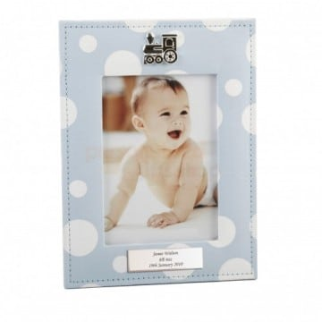 personalised-dolka-dot-blue-frame