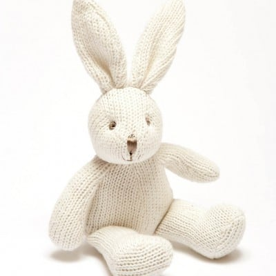 small white bunny rattle