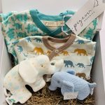 Baby hamper blue and neutral