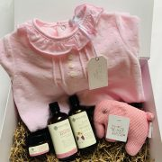 Mummy and me pink baby hamper