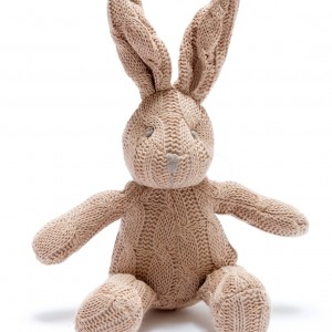 Knit brown bunny