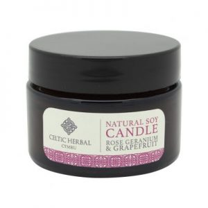Celtic herbal soy wax candle