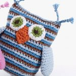 Pink and blue owl