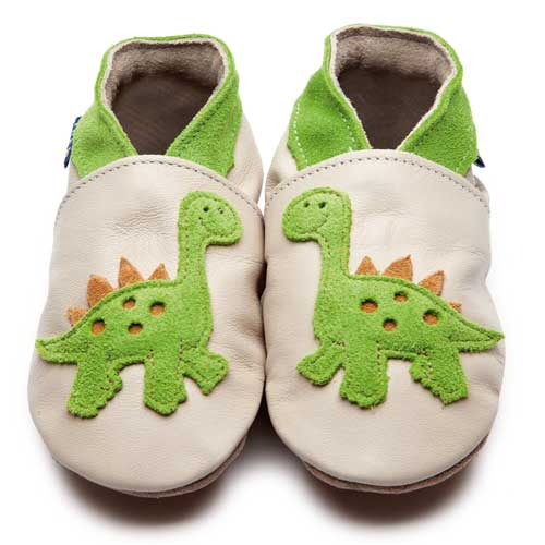 Inch BLue Lime DInosaur baby shoes