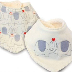 Towelled bandana bibs