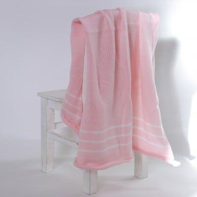 Merino blaket - pink