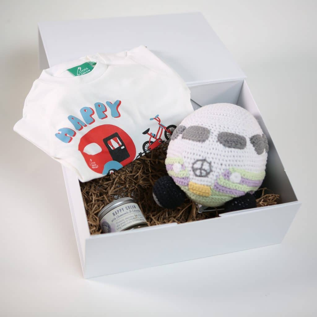 Happy camper baby hamper