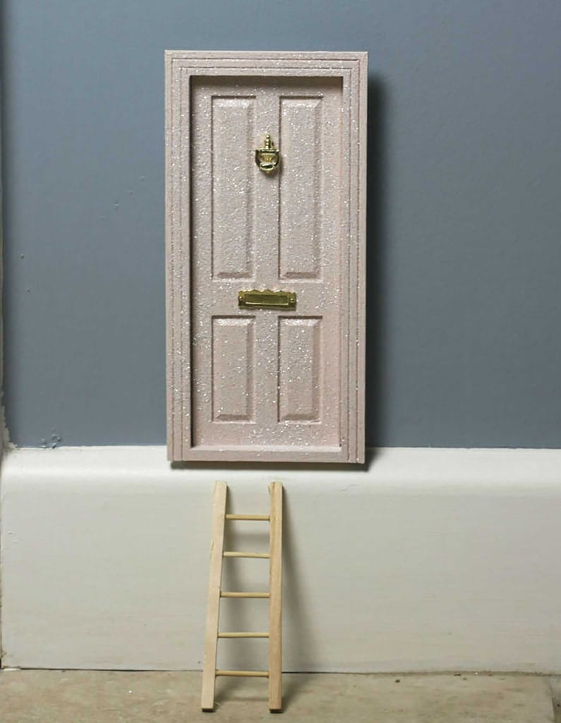 Fairy magic door frosted glitter pink the little for My little magic door