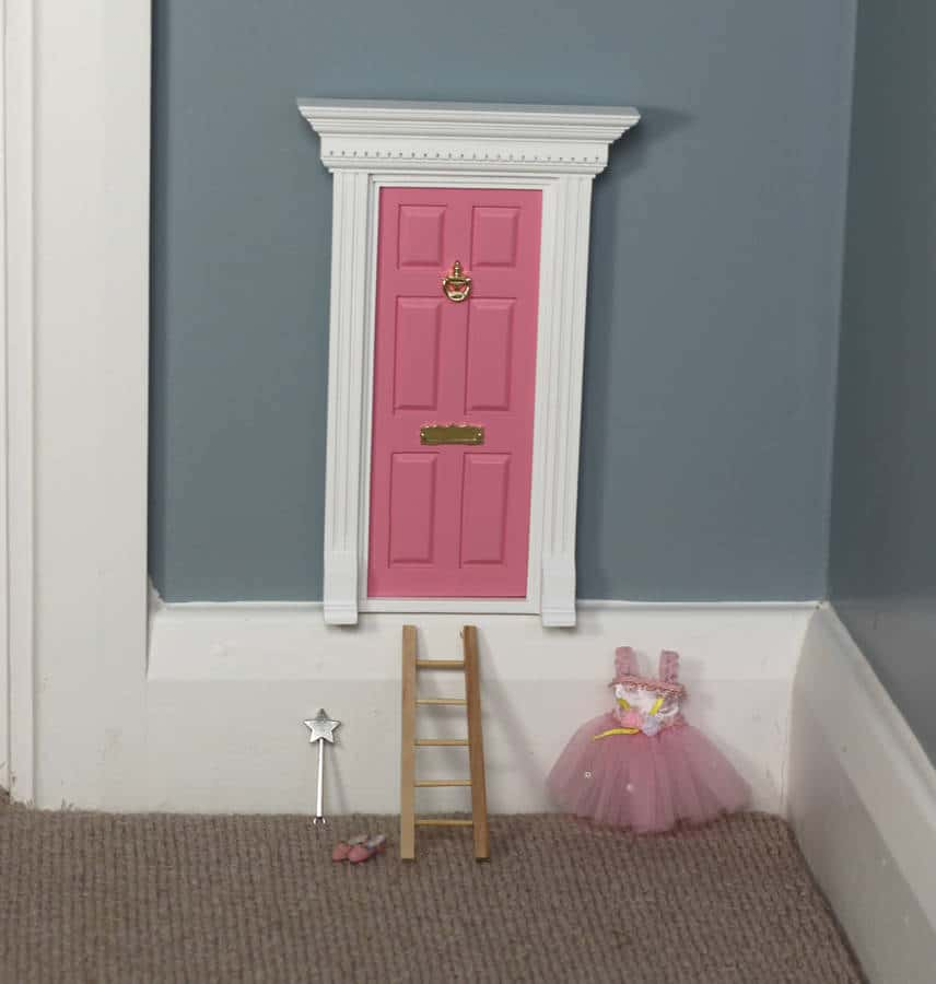Fairy magic door town house pink the little lavender tree for Original fairy door