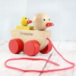 Personalised Wooden Duck Toy