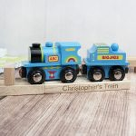 Personalised Toy Train Blue