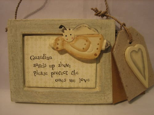 Guardian Angel Wooden Plaque The Little Lavender Tree