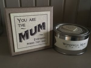 Wonderful mum candle
