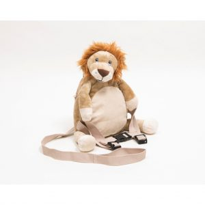 Roary the lion with reins
