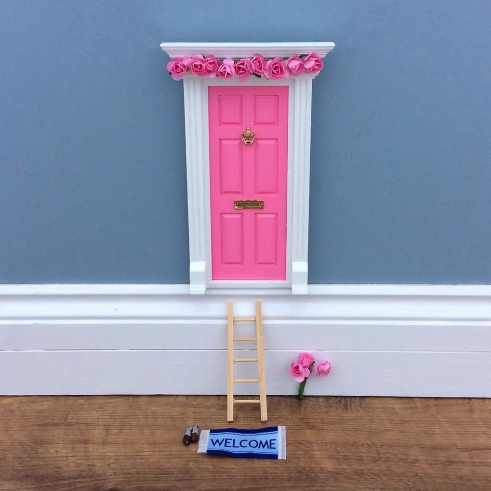 Vintage rose fairy door