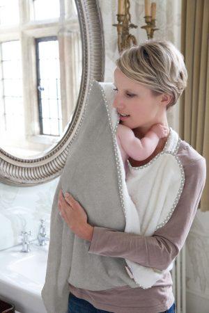 Cuddledry grey stars apron towel