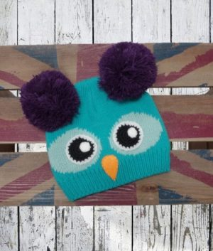 Owl bobble hat