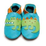 INCH BLUE CROCODILE BABY SHOES