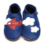 Inch BLue aeroplane baby shoes