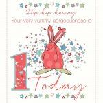 Rufus rabbit birthday card 1