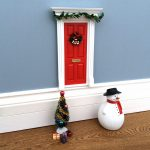 Magical Little World Fairy Christmas Door