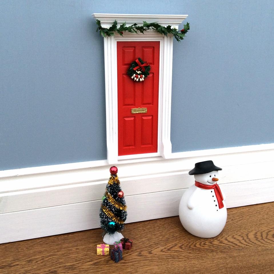 Magical Little World Fairy Christmas Door