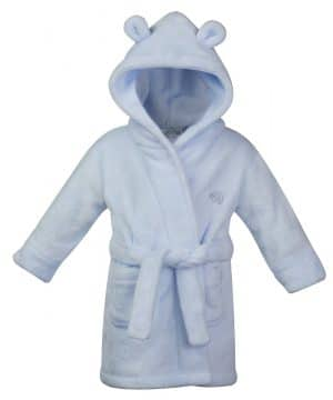 personalised baby blue dressing gown