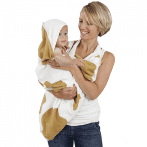 Cuddledry cowprint baby apron towel