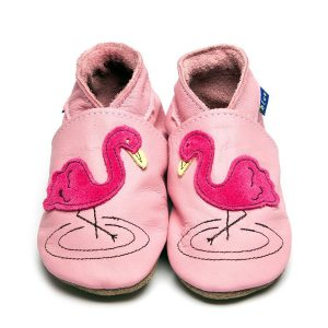 INCH BLUE Flamingo baby shoes