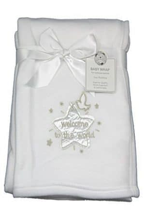Welcoome to the world personalised blanket
