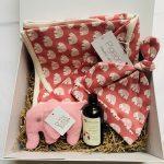 Mummy bear pink baby hamper