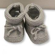 Baby booties grey